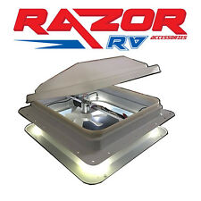 "Jayco suitable Caravan Roof Hatch with LED Lights & Fan (355x355mm)""14"" Cut Out"