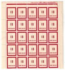 Timbre fictif N° 98 en fragment de feuille de 25 timbres Neuf **