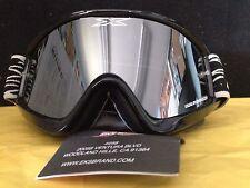 New EKS X Brand GOX Shiny Black Goggles 067-10150 ATV MX Motorcycle Quad SXS UTV
