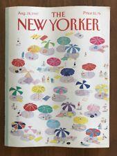 1987 August 24 The New Yorker Magazine Beach Umbrella Davis