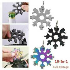 18 In 1 Stainless Tool MultiTool Portable Snowflake Shape Key Chain Screwdriver@