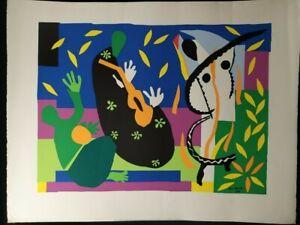 Tristesse du Roi 1952 by Henri Matisse, Silkscreen ,Oversize Print