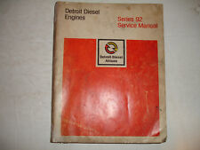 CHEAP Detroit Diesel Series 92 Engines Factory Service Shop Overhaul Manual '77