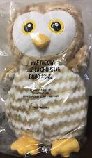 "Annie Owl 13"" Plush Bird Tan Gold Brown White Stuffed Animal 2016 New Age 0 + Up"