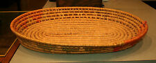 Vintage Hand Made Mexican Rafia Woven Coil Tray from Mexico