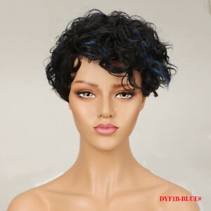 Lady Pixie Cut Wig Short Wave Real Remy Human Hair No Lace Wig Natural Hairline