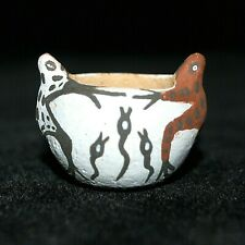 """Miniature Zuni Frog Pot by Irma Kallestewa, 7/8"""" tall"""
