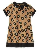NWT Gymboree Girls Right Meow Leopard Print Sweater Dress Size 2T 3T & 4T