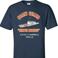USCGC CAMPBELL  WPG-32 *COAST GUARD  VINYL PRINT SHIRT/SWEAT