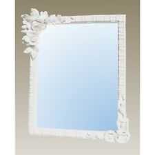 New Floral Rose Flowers White Bedroom Rectangle Dressing Table Top Wall Mirror