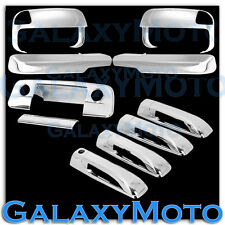 10-16 Ram 2500+3500+HD Chrome Towing Mirror+Arm+4 Door Handle+Tailgate CM Cover