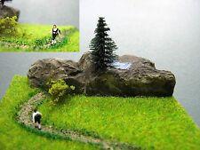 (DW4) Wanderer Bergsee Diorama Figur Spur Gauge Trace Z (1:220) mountain
