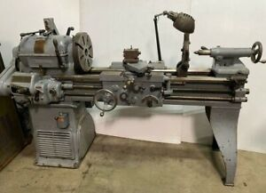 Rockford Economy 14 x 40 Machinist Engine Lathe Metal Cutting Vintage Nice
