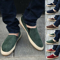 Men's Casual Shoes Flat Canvas Zapato Sneakers Slip On Loafers Driv
