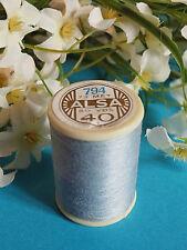 343B / Beautiful Coil Old Thread DMC Cotton Alsa N°40 Blue Clear N° 794