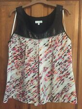 Next 'signature' range - black sequinned/multi coloured top size 16 - worn once