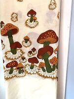 Vintage Mushroom Fabric 2 Pcs 5.6 Yards Merry