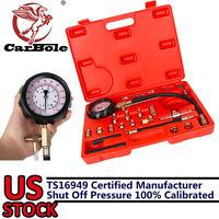 0-140PSI Fuel Injection Pump Injector Tester Test Pressure Gauge Gasoline w/Case
