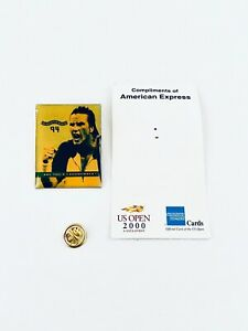 Patrick Rafter 2000 US OPEN Tennis American Express Metal Pin Original Card New