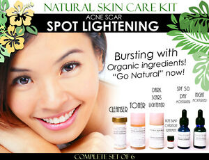 Natural Skin Care Kit For Acne Scar Spot Lightening and Acne Care Set of 6