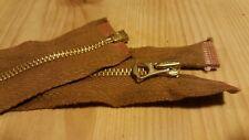 1 × 24'' inch Talon Repro vintage style brass Metal jacket Zip ** LAST ONE **