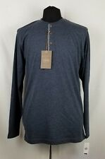 WEATHERPROOF NEW Dress Blue Mens Size Large L Crewneck T-Shirt Tee Henley