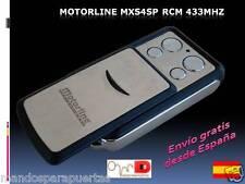 Mando de garaje Motorline MXS4SP RCM original remote rolling code 433Mhz puerta