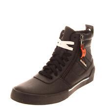 RRP €150 DIESEL S-DVELOWS Leather Sneakers Size 43 UK 9 US 10 Black High Top