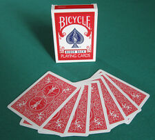1 DECK Bicycle DOUBLE BACK (RED) gaff magic playing cards