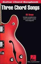 Three Chord Songs Guitar Chord Songbook 65 Songs! Book NEW!