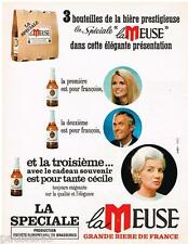 PUBLICITE ADVERTISING 095  1968  LA MEUSE  la grande bière de France SPECIALE