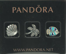 Original Pandora Medaillon-Set 792115CZ Tropisches Paradies NEU 925 Silber