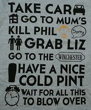 """The Plan"" Shaun of the Dead Zombies Women's Small Shirt Shirtpunch"