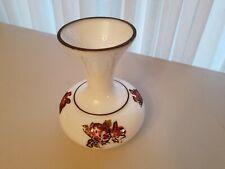 ANTIQUE OPALINE GLASS VASE EPPCO. N.Y. HAND PAINTED FLORAL