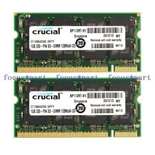 New 2GB 2X1GB PC2700 DDR 333mhz 200Pin CL2.5 Sodimm Laptop Ram Memory
