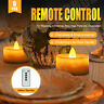 6 x FLICKERING BATTERIES POWER LED TEA LIGHT CANDLES TEA LIGHTS REMOTE CONTROL
