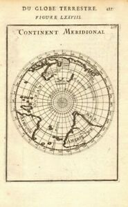SOUTHERN CONTINENT. Continent Meridional. Antarctic New Holland. MALLET 1683 map