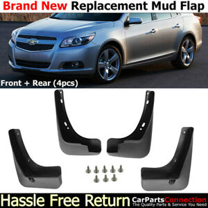 Front Rear Mud Flaps Splash Guards 2013-2016 Chevrolet Malibu Mudguards