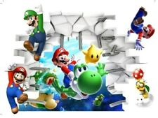 Super Mario Brothers Decal Wall Mural Stickers Childs Bedroom Playroom Game Room