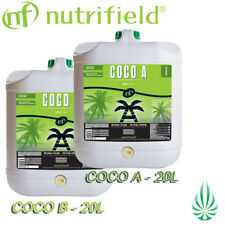 Nutrifield COCO A&B Set 2x20L Hydroponic Base Nutrient Set Fo Growth & Blooming