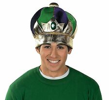 "Mardi Gras Crown with Jewel Plush (One Size Fits Most) 24"" Circ."