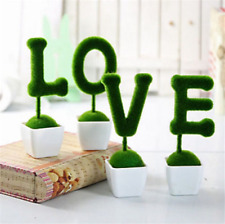 LOVE Grass Artificial Fake Plants Plastic Home Garden Table Decors Potted UK