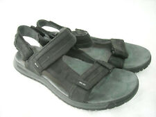 Mens Merrell Black Leather Sandals Sz 8 EUR 41 VGUC