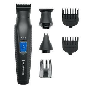 Remington Graphite G3 Electric Beard Shaver, Body Groomer, Nose Hair Trimmer Kit