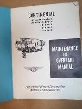 Original Continental O-470-A,B,E,J Aircraft Engine Maintenance & Overhaul Manual