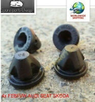 4x FEBI VW AUDI SEAT SKODA Socket For Engine Cover Rubber Fastener 38850 3G10318