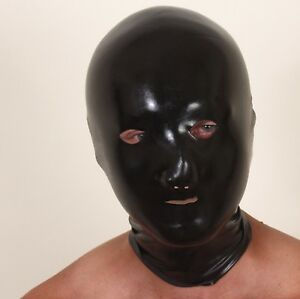 Pure latex mask/hood, chlorinated for easy-wear - no talc needed!