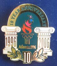 Atlanta 1996 Olympic Games Pin - 10 Year Anniversary Torch Logo