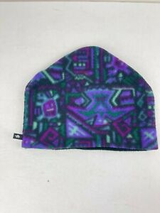 Turtle Fur Fleece Beanie Aztec Multicolor Fleece Multi-colored Hat Retro USA