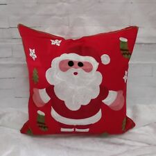 Christmas Embroidered Santa Sofa Cushion Covers Throw Pillow Case 18x18
